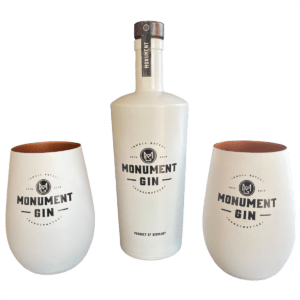 MONUMENT GIN PLUS 2 MONUMENT BECHER