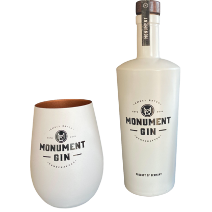 MONUMENT GIN PLUS MONUMENT GIN BECHER